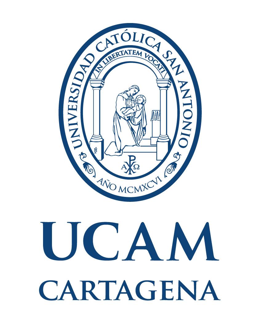 Logo UCAM horizontal monocromo blanco