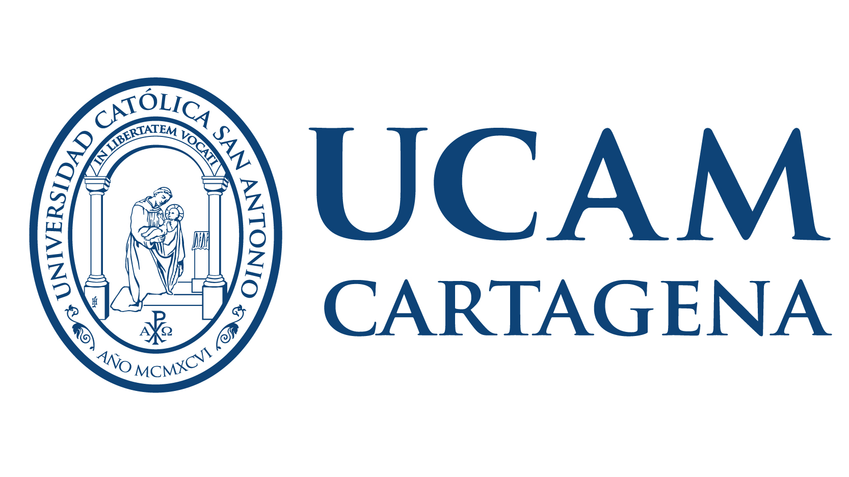 Logo UCAM cuadrado monocromo blanco