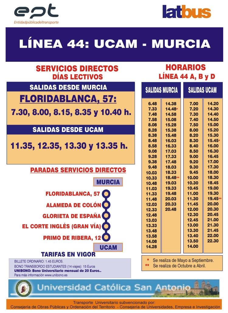 Autobuses desde Murcia